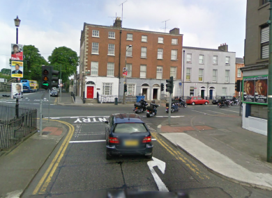 St Mary's Place in Dublin 7, where the raid on the cash-in-transit van took place in February.