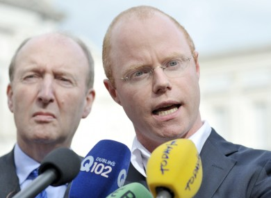 Independent TDs Stephen Donnelly (R) along with Catherine Murphy (not pictured) are leading the project.