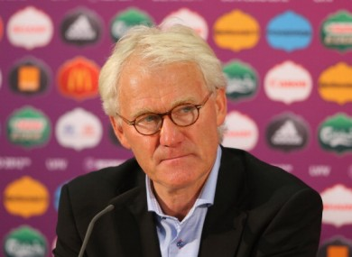 Morten Olsen: on the brink.