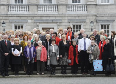 Women who suffered symphysiotomies at the Dáil earlier this year