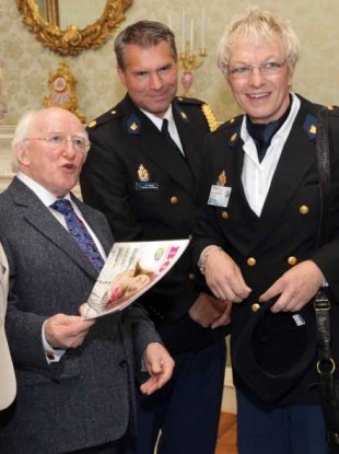 President Higgins hosts delegates from the 6th European Gay Police Association Conference