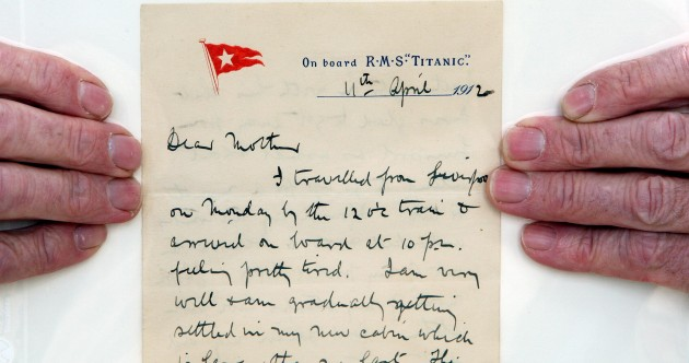 In pictures: One of the Titanic's last letters to go on display at museum