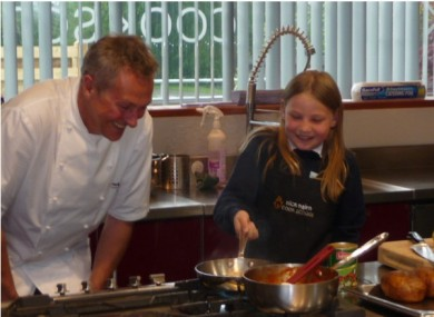 Martha with chef Nick Nairn last week.