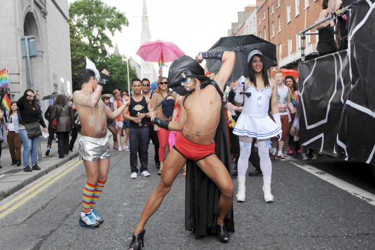 Is this Pride - Half naked men and women in their undies