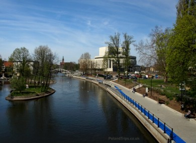 General view of the riverside in Bydgoszcz