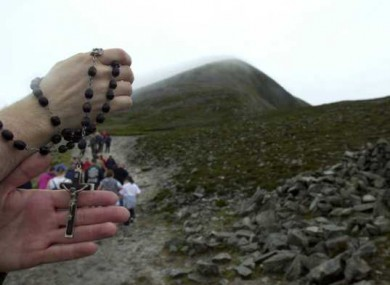 File photo of the annual climb of Croagh Patrick in Co Mayo