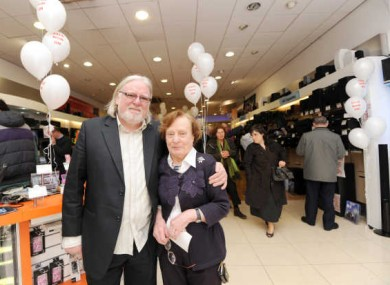 Chairman of Peats Electronics, Ben Peat (left) and his sister, Pat pictured in it's busy Parnell Street branch