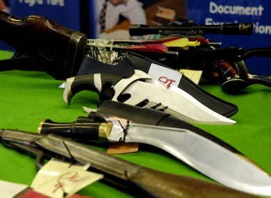 Weapons handed in during the 2006 weapons amnesty