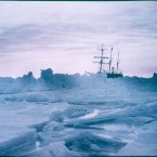 A mid-winter glow: The Weddell Sea and the Endurance in 1915. (Image: Frank Hurley)