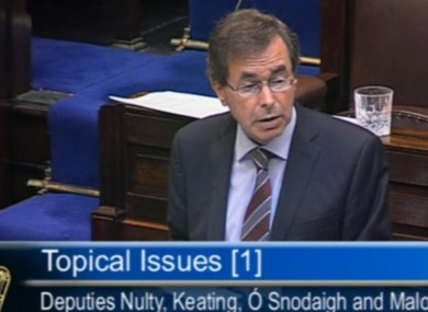 Alan Shatter speaking in the Dáil today