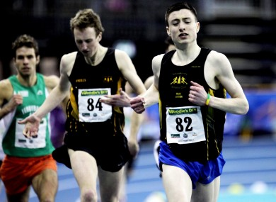Mark English (right) competes at the indoor championships next year.