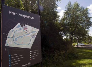 Parc Angrignon in Montreal where the remains were found