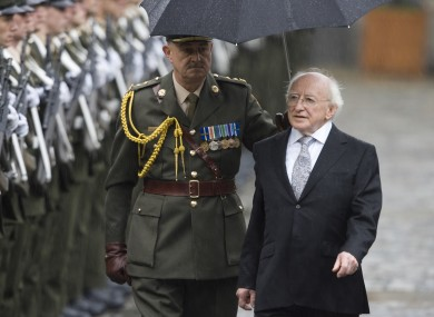 President Michael D Higgins inspects a Defence Forces Guard of Honour after his inauguration in November.