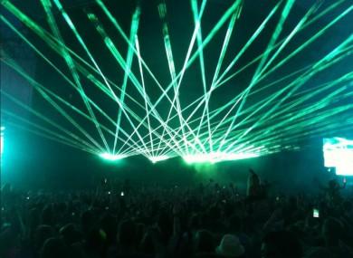 Swedish House Mafia perform at Phoenix Park last week.