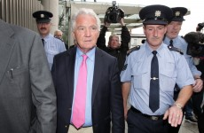 A nice tan but no cheeky grin from Seánie on his day in court