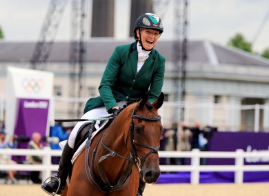A smiling Aoife Clark on Master Crusoe.