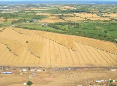 The world record attempt by Combines 4 Charity in 2009