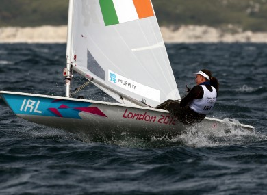 Ireland's Annalise Murphy competes in the Laser Radial on her way to a second win of the day during today's Olympic racing at Weymouth.