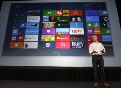 Kirk Koenigbauer, Corporate Vice President of Microsoft Office Division, speaks at a Microsoft event in San Francisco, Monday, July 16, 2012.