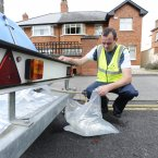 City council worker Gary Ward with the water tanker on Castle Avenue. (Photo: Sasko Lazarov/Photocall Ireland)