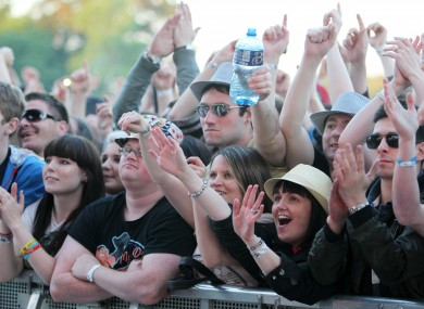 File photo of fans at the Stones Roses gig in the Phoenix Park earlier this summer.