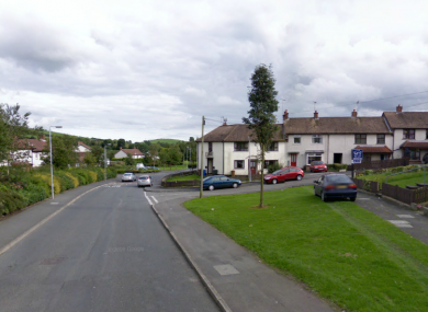 Windmill Gardens in Ballynahinch, where last night's violent attack occurred.