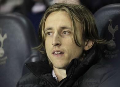 Luka Modric: on the move at last.