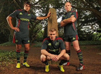 The new jersey is  inscribed with ancient Ogham wording translated as 'Redness'.