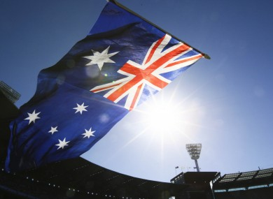 The Australian flag at Melbourne cricket ground