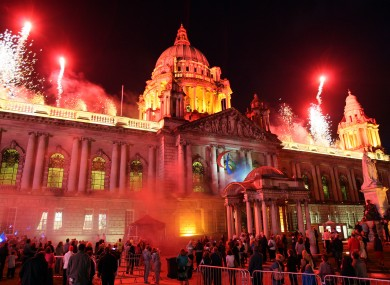 Belfast City Hall celebrations as the Paralympic torch passes through Northern Ireland