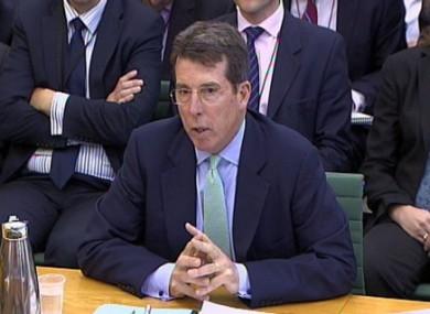 Bob Diamond giving evidence to the Treasury Select Committee on 4 July 2012.