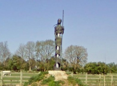 The Gráinne Óg statue stolen from the slip road to Moate off the M6.