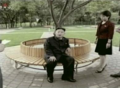 Kim Jong Un with his wife