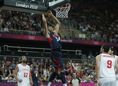 Anthony Davis powers towards the basket on Tuesday night.