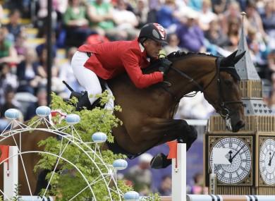 Paul Estermann of Switzerland rides his horse Castlefield Eclipse.