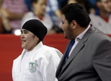 Wojdan Shaherkani's participation was only guaranteed on Tuesday, when a row over her headgear was resolved.
