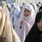 Iranian worshippers perform Eid al-Fitr prayers in Shahr-e-Ray, south of Tehran. (AP Photo/Vahid Salemi/PA)