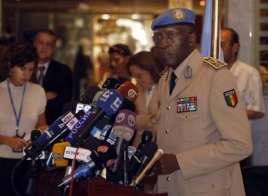 General Babacar Gaye, head of UNSMIS.