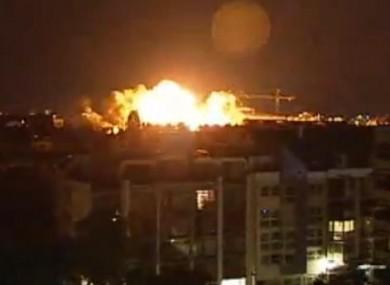 The explosion in Schwabing last night.