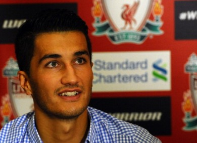 Sahin is unveiled at Liverpool.