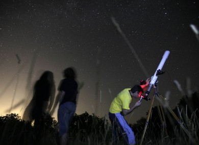 Astronomers observe the night sky for the Perseid meteor shower in Sofia, Bulgaria