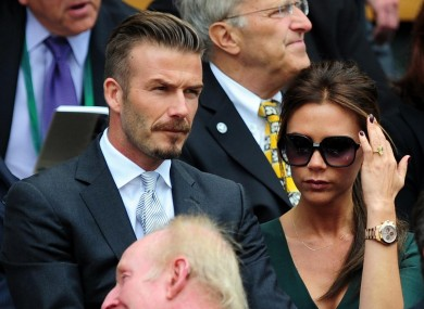 Posh and Becks: probably used to being on the receiving end of jokes by now.