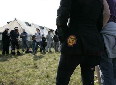 File photo of protestors at Camp Solidarity