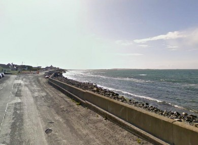 The Seafield area of Quilty, where the bodies of two fishermen were brought ashore yesterday