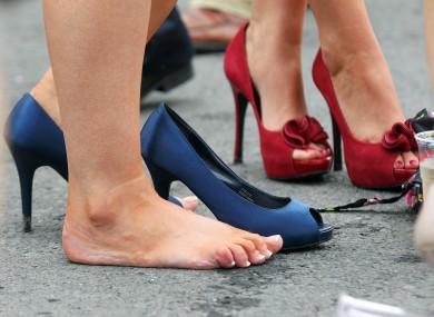 Sore feet at Ballybrit yesterday.