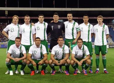 The starting XI last night.