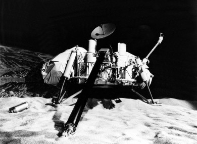 The Viking lander, launched on 20 August 1975 and arrived at Mars on 19 June 1976