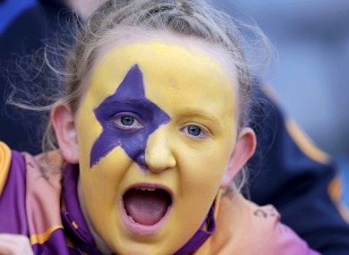 One Wexford fan at Croke Park yesterday.