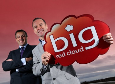 Paul Rellis, managing director of Microsoft Ireland (left), and Marc O'Dwyer, CEO of Big Red Book.