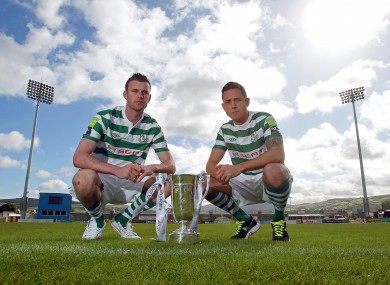 Priority: Rovers duo Ciaran Kilduff, left, and Billy Dennehy with the EA Sports Cup.